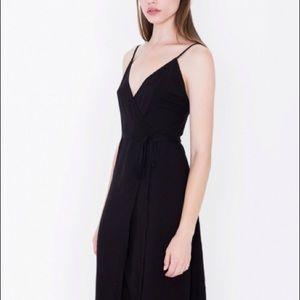 American Apparel Midi Wrap Dress